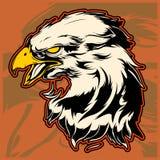 Grafisch Hoofd van Kaal Eagle Mascot Vector Illustration royalty-vrije illustratie