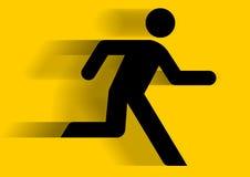 Grafisch lopen van de mens Stock Foto's