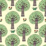 Grafisch met bomen Stock Afbeeldingen