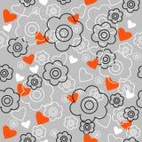 Grafisch naadloos patroon met bloemen Royalty-vrije Stock Foto
