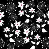 Grafisch naadloos patroon met bloemen Stock Fotografie