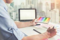 Grafisch ontwerp en gekleurde monsters Royalty-vrije Stock Foto