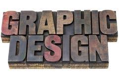 Grafisch ontwerp in grunge houten type Stock Foto