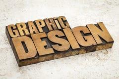 Grafisch ontwerp in houten type royalty-vrije stock afbeelding