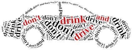 Grafisch ontwerp met betrekking tot het drijven na alcohol Royalty-vrije Stock Foto