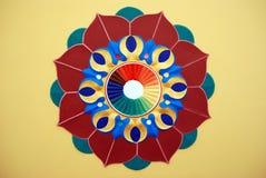 Grafisch ontwerp van lotusbloembloem Stock Afbeelding