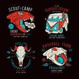 Grafisch ontwerp voor t-shirt Stock Afbeeldingen