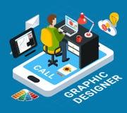 grafisch ontwerpconcept royalty-vrije illustratie