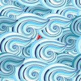 Grafisch patroon van golven Royalty-vrije Stock Fotografie