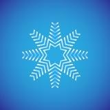 Grafisch sneeuwvlokpictogram Reeks van 16 geïsoleerde elementen op witte achtergrond Stock Foto