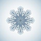 Grafisch sneeuwvlokpictogram Reeks van 16 geïsoleerde elementen op witte achtergrond Stock Afbeeldingen