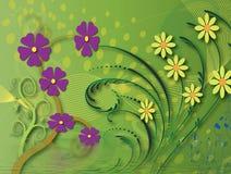 Grafisch van bloemachtergrond Stock Foto