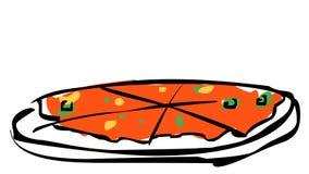 Grafisch van pizza Royalty-vrije Stock Afbeeldingen