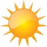 Grafisch van zon Stock Afbeelding