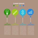 Grafisch Vastgesteld het Pictogram van Bedrijfs financiëninfographic Concept stock illustratie