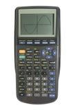 Grafisch voorstellend calculator op wit met het knippen van weg Royalty-vrije Stock Afbeeldingen