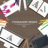Grafisch Webontwerp Het trekken en het schilderen ontwikkeling Illustratie, freelance schetsen, Gebruikersinterface Ui Computer Stock Afbeelding