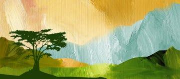 Grafische abstracte Bergketenachtergrond Stock Afbeelding