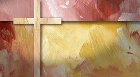 Grafische abstracte geometrische dwars geel als achtergrond Stock Afbeelding
