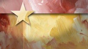 Grafische abstracte geometrische gele ster als achtergrond Stock Afbeeldingen