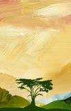Grafische abstrakte Gebirgszughintergrund Vertikale Lizenzfreies Stockbild