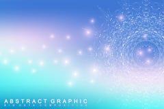 Grafische abstrakte Hintergrundkommunikation Großer Datenkomplex Lizenzfreies Stockfoto