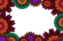 Grafische achtergrond met bloemen Stock Afbeeldingen