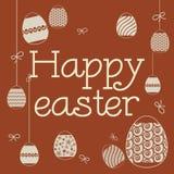 Grafische Aufschrift Ostern lizenzfreie stockbilder