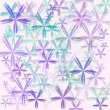Grafische Auslegung der Retro- Blume lizenzfreie abbildung