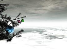 Grafische ballen van Kerstmis Vector Illustratie