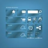 Grafische Benutzerschnittstelle der flachen Designikonen Stockfotos