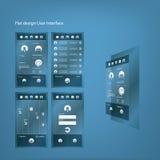 Grafische Benutzerschnittstelle des flachen Designs für Smartphone Stockbild