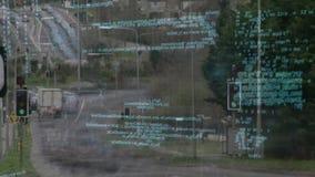 Grafische Bildstraßen stock video footage