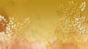 Grafische Bladeren met Textuur Royalty-vrije Stock Afbeeldingen