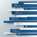 Grafische blaue gestreifte moderne Schablone der Informationen Stockfoto