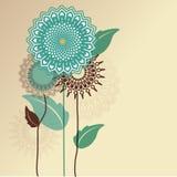Grafische Blumen Stockbilder