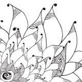 Grafische Blumenkarte Stockfotos