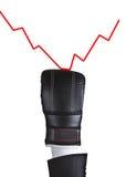 Grafische bokshandschoenstempel Royalty-vrije Stock Foto's