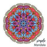 Grafische bunte zentangle Mandalagekritzelentwurfsvektor-Farbtonseite lizenzfreie abbildung