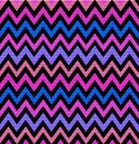 Grafische Chevrondruk in fuchsiakleurig roze, purple en blauw royalty-vrije illustratie