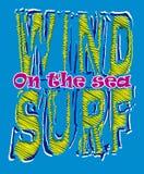 Grafische de branding van de wind Stock Foto