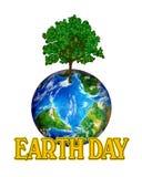 Grafische de Dag van de aarde stock illustratie