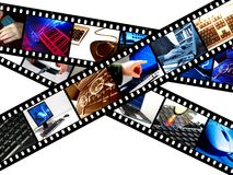 Grafische de filmstrip van de computer Stock Afbeelding