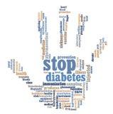 Grafische de info-tekst van de diabetes Stock Fotografie