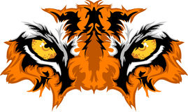 Grafische de Mascotte van de Ogen van de tijger Royalty-vrije Stock Foto's