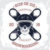 Grafische de t-shirt van de Snowboardingskoning Royalty-vrije Stock Fotografie