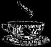 Grafische de tekst van de koffie Stock Foto's