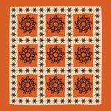 Grafische Dekoration mit Mandala Lizenzfreie Stockfotos