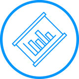 Grafische Diagramm-Vektor-Linie Ikone Stock Abbildung