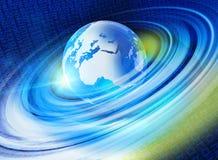 Grafische digitale wereldachtergrond 2 Stock Fotografie